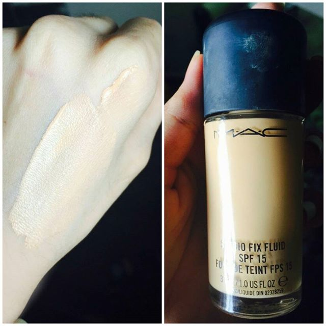 MAC Studio Fix Foundation NC(20)/ The liquid foudation is concealed in a glass jar. It comes in approximately 38 shades. With yellow and pink undertones. This gives a great variety of shades and is best suitable for asian skins. I use the shade NC 20 and NW 20. Sometimes mix the both according to my skin. Coverage: Light to Medium. (It is build able) Pros: Good coverage Suitable for asain skin tones Can be easily worn in day and night Wide variety of shades SPF 15 Cons: Glass bottle Gets a little oily at times