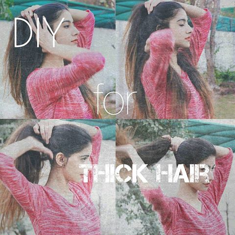 So I got some requests on how to get thicker hair and here are some diy's for getting thick hair. The most imp thing is your diet, if you eat healthy food and drink a lot of water then your hair will be healthy too. Secondly, massaging any of these oils twice a week also help in getting thick and long hair: Olive oil; it will add body to your hair. Almond oil; helps in hair growth and is very helpful for conditioning your hair. Caster oil: massaging your scalp regularly with cold-pressed caster oil is the easiest way to get thick and long hair. Regular protein treatments are also essential for thick hair and EGGs are the best ingredients for hair protein. - Take one or two eggs, beat them properly and apply them to your head, leave them for about 20-30 minutes and then wash your hair. Do this twice a week for better results :)