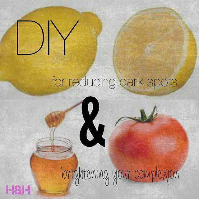 So, a couple of you asked for tips to reduce dark spots so here's a tip that not only reduces dark spots but it actually brightens your complexion! By brightening your complexion I mean it brings a natural glow on your face and gets rid of the tan that you've gotten! The best thing about this tip is that its all natural and pretty cheap! All you need is lemon, honey and tomatoes! Yup, that's all! Now its pretty easy,1- make a paste by mixing lemon and honey by any proportion that suits your skin, (I'm mentioning this because people with sensitive skins tend to get irritated by the excessive use of lemon on their skin) and then apply it on your face for about 10-15 minutes and then wash it off with luke warm water. You'll definitely feel a glow on your face after this one because firstly lemons have antioxidants that are very good for skin complexion and it also tends to act as a bleaching agent for your skin, Honey on the other hand helps in fading acne scars and ageing spots. 2- Crush a tomato or two and add half a lemon init to mix it together to form a paste, apply it on your face and let the tomato juice and lemon juice dry, wash it off with luke warm water again! Tomatoes have vitamin A, C and K which enhance your skin and leave it radiant! Apply these pastes at two different times and not one after another as the excessive use of lemon may harm your skin. I'll recommend you to apply one in the morning and the other later in the evening. Apply these pastes once or twice a week and you'll definitely see a difference!
