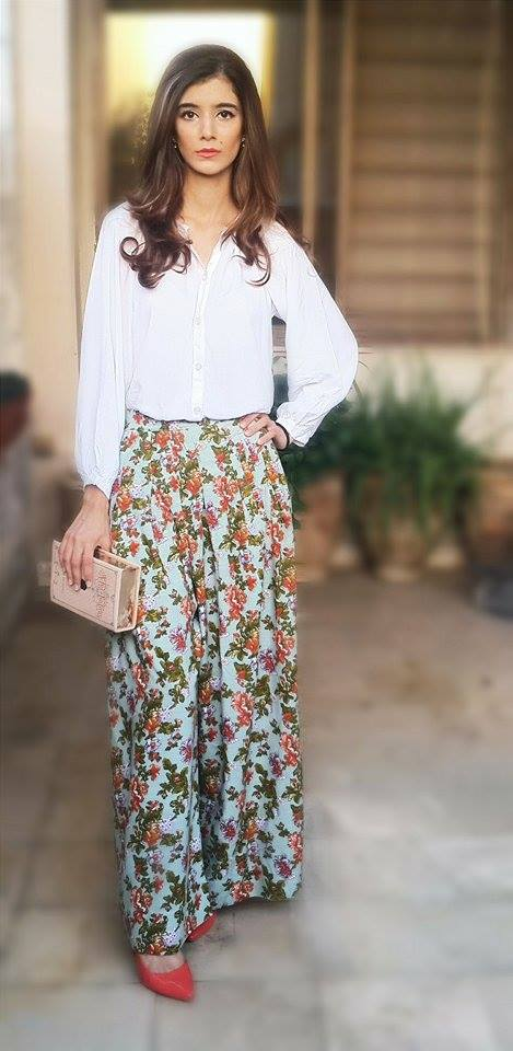 As the trousers were a little loud I went with a plain white shirt to go with it and the shirt is from Khaddi.