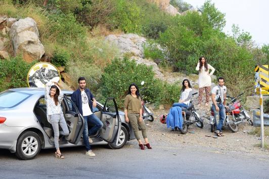 From left to right - Hemayal Attique, Moosa Rizvi, Anber Javaid, Hira Attique, Nayab, Hassan