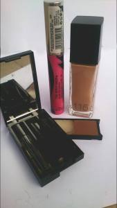 Luscious eye brow kit. Body shops mascara Maybelline's Fit me foundation 115.