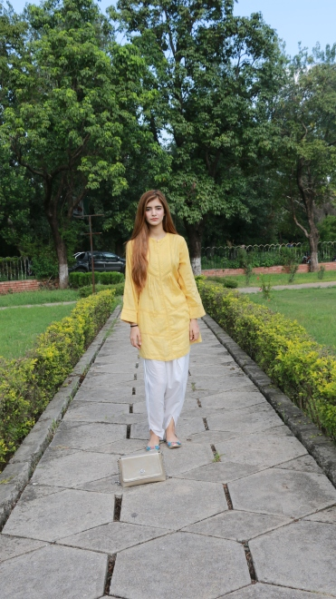 Yellow Crochet Lace Top - 4690